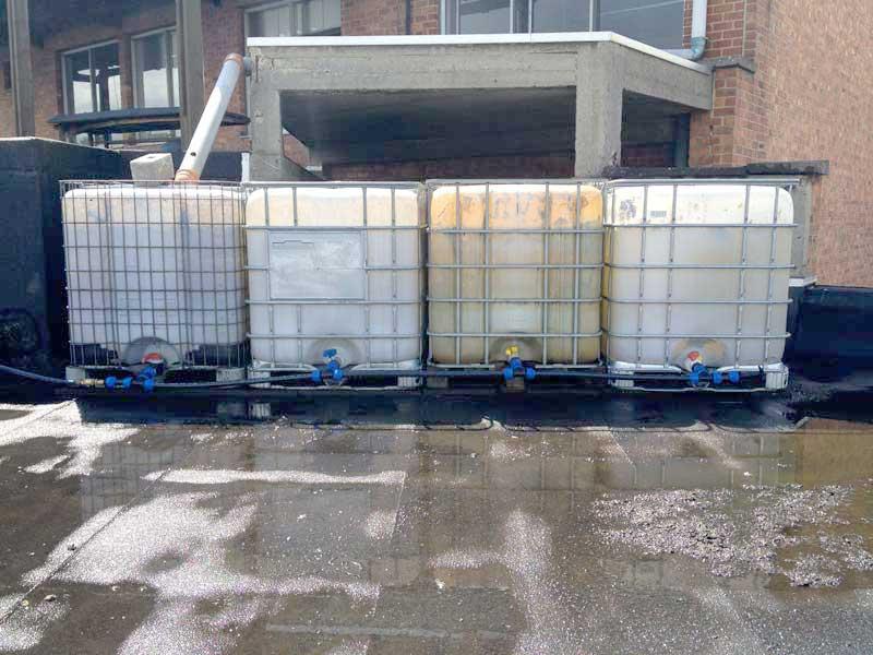 4 x 1000 liters in series