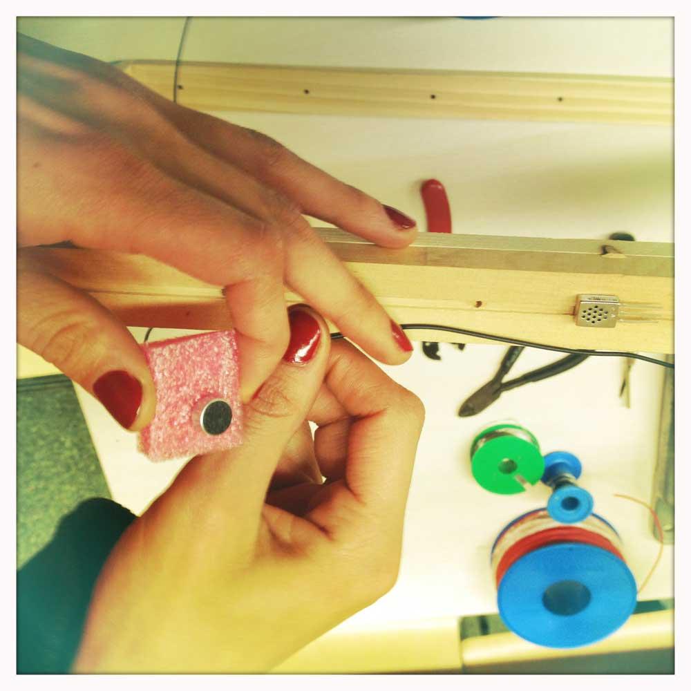 preparing the sensors