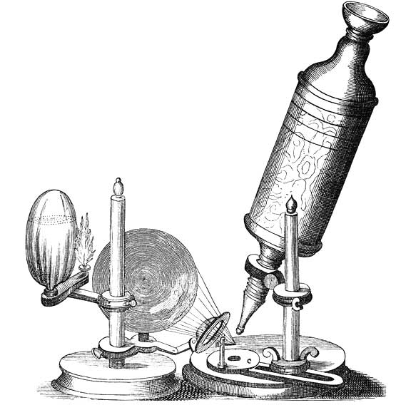 compound microscope designed by Robert Hooke