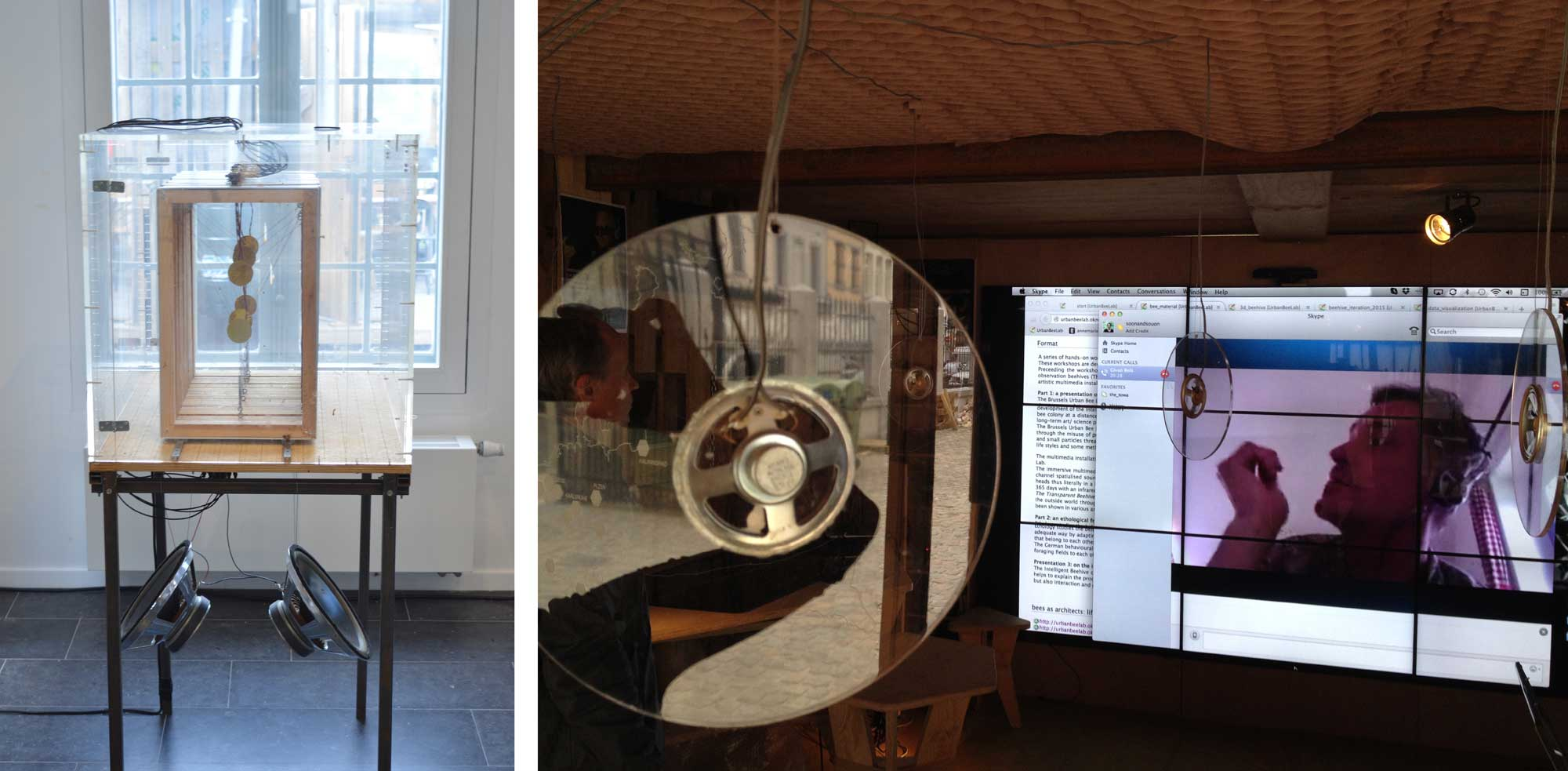 audio installations with beehive recordings