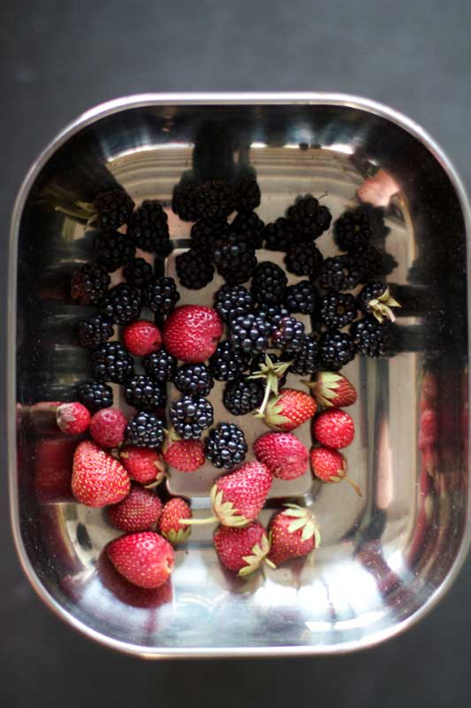 strawberries and brambles