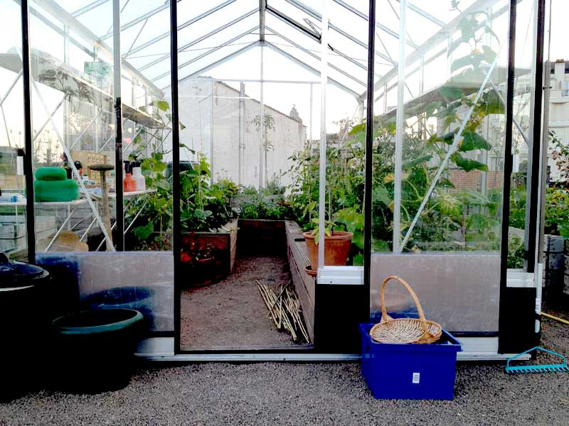 greenhouse, front