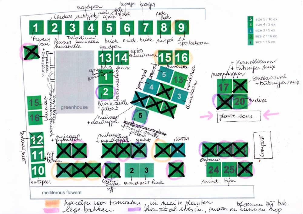 tuinplan eind april 2013