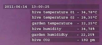 example for representing sensordata